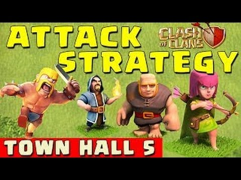 BEST Clash of Clans Attack Strategy (TOWN HALL 5) - NEW 2014