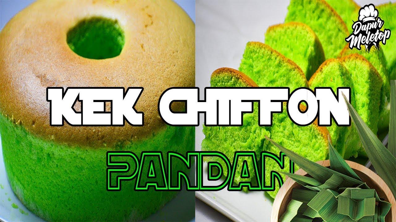 Kek Chiffon Pandan Super Gebu Lembut
