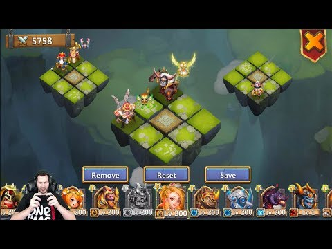Setting Up New Lost Battlefield Squads With RockNO Castle Clash