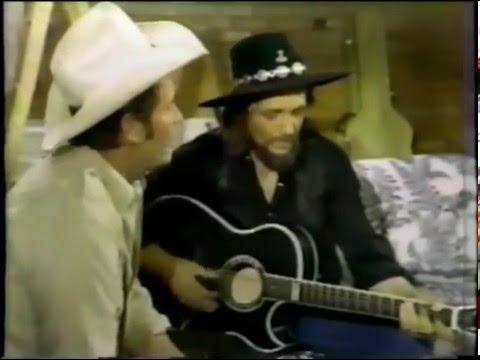 James Garner and Waylon Jennings in 1980