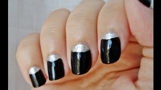 Desafío 31 días: día 18 diseño uñas media luna / 31 Day Challenge: Day 18 half moon nail design