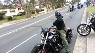 Harley Davidson burnouts after cousins wedding