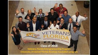 UCF Veterans Florida Entrepreneurship Program 2018