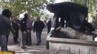 В Николаеве бросили в мусорный бак чиновника, устроившего пьяное ДТП