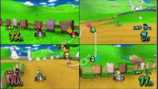 Mario Kart Wii - One Controll, 4 Players