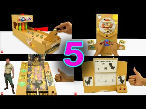 5 Amazing Cardboard Games Compilation