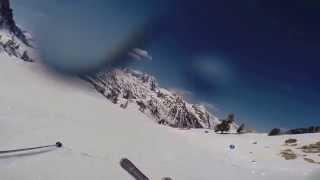 ski débutant et chutes à isola 2000