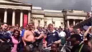 Scottish Army Invade Trafalgar Square,Bagpipes&Drum
