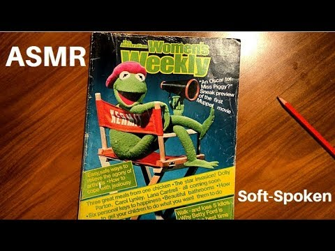 ASMR: Browsing through Vintage Magazine - Australian Woman's Weekly 1979 || Soft-Spoken / Whisper