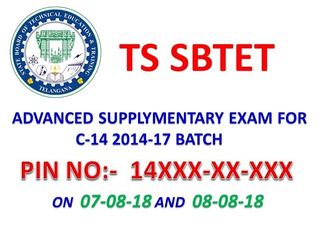 TS SBTET Advanced supplementary exam  for C14 2014-17 batch| how to apply | who are eligible??