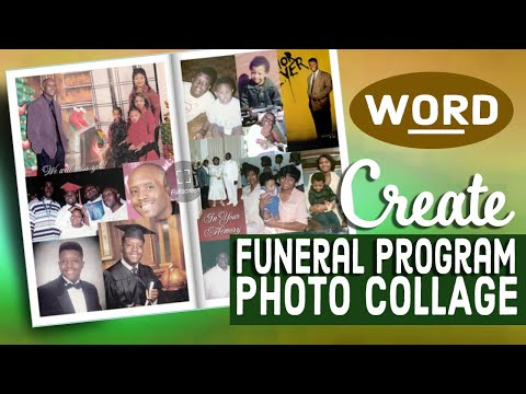 Create A Photo Collage Windows WORD - Funeral Program Template