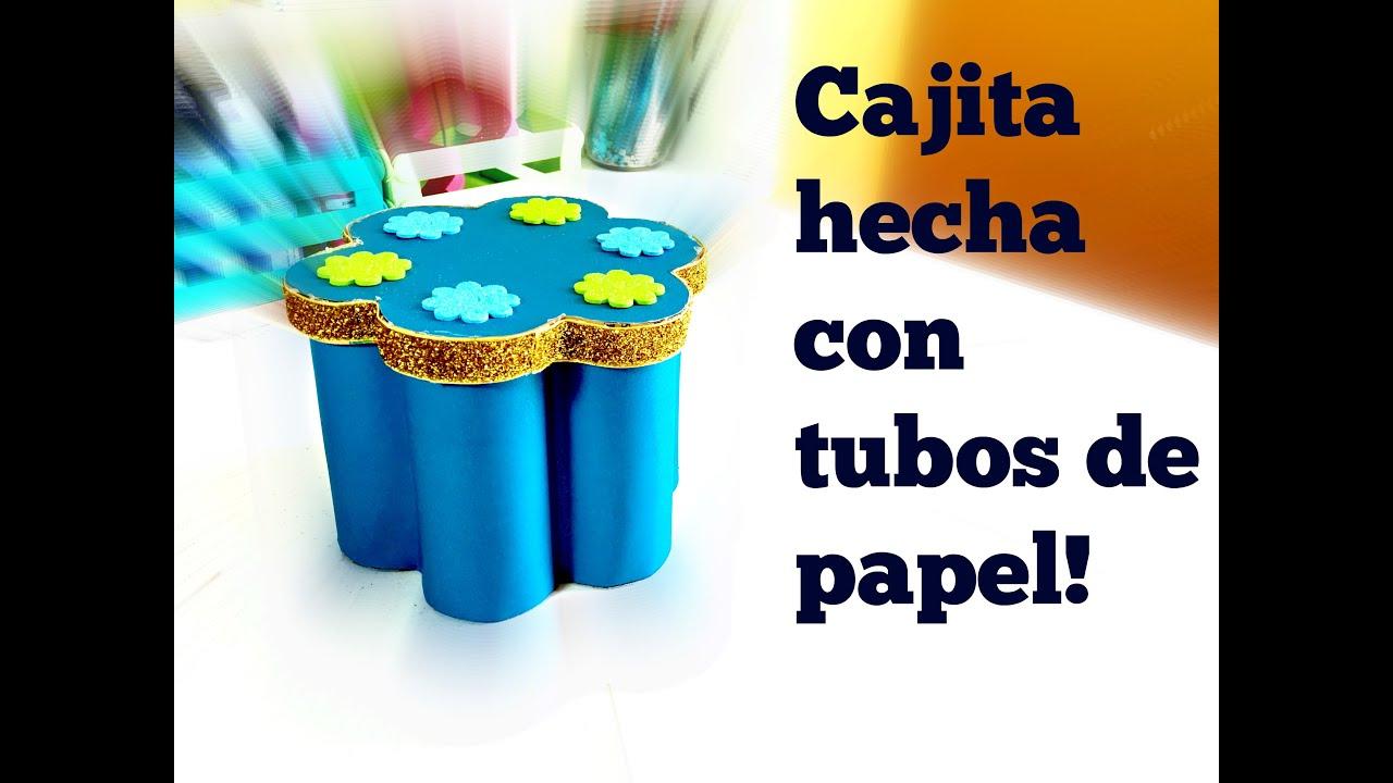 Manualidades con tubos de papel box made with paper - Manualidades en papel ...