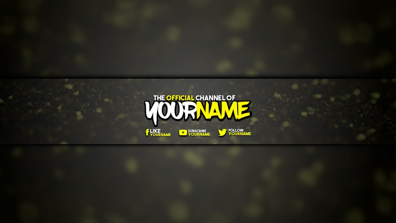 how to make a cool clean yellow youtube banner from android ps touch youtube