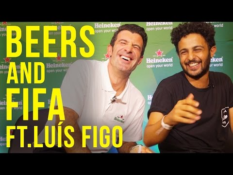 Beers And Fifa With Luis Figo