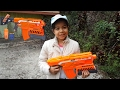 Let's Play Nerf Elite Demolisher Review and Firing Test