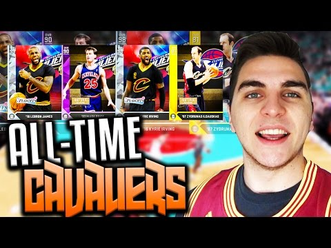 BEST PLAYERS IN CLEVELAND CAVALIERS HISTORY! NBA 2K16 SQUAD BUILDER