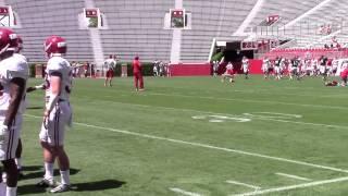 Jake Coker, Alec Morris throwing during scrimmage