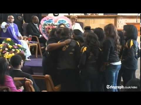 Michelle Obama attends murdered girl funeral