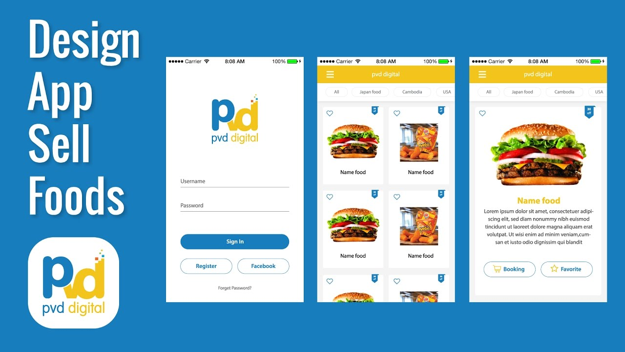Amazing design layout app mobile sell foods on android for App layout design online