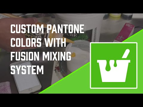 How To Mix Custom Pantone Screen Printing Colors With Fusion