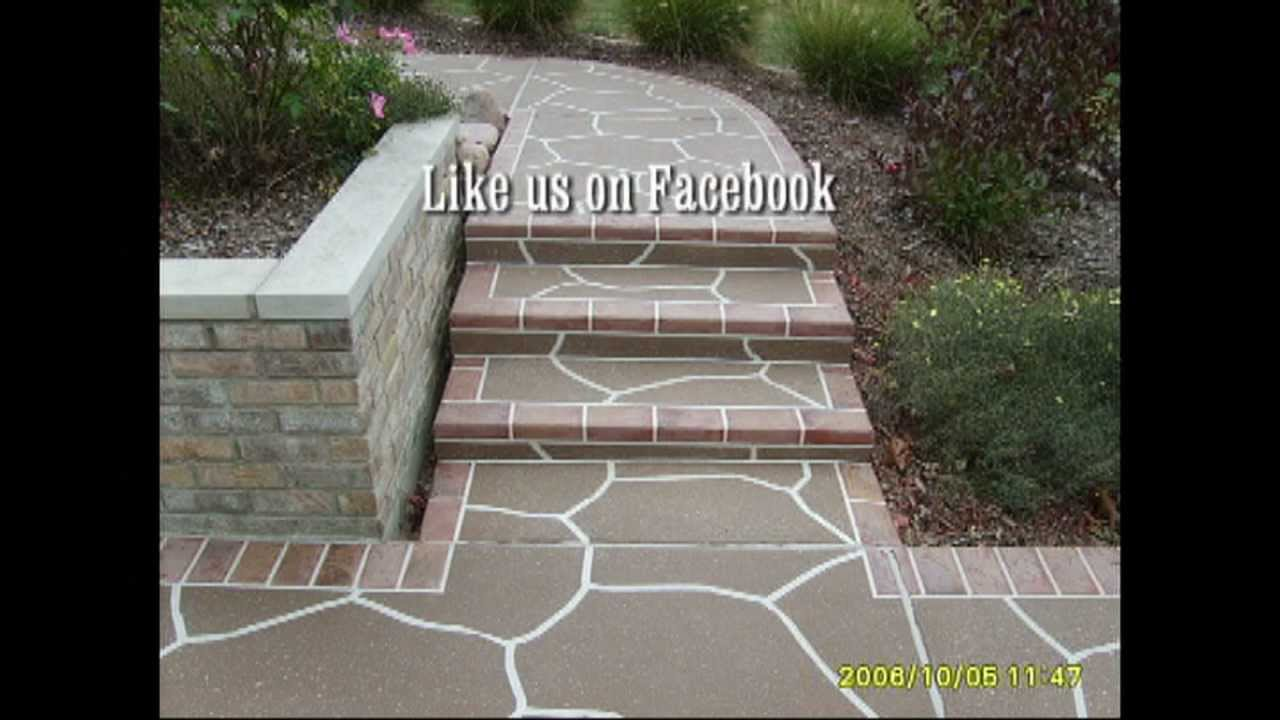 Design Tape For Decorative Concrete Overlays Youtube