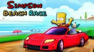 SIMPSON BEACH RACE | CAR RACING GAMES FOR KIDS | CARTOON GAMES