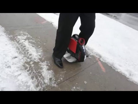 Electric Unicycle ideal for the urban commuter in the cold and snowy Canadian weather