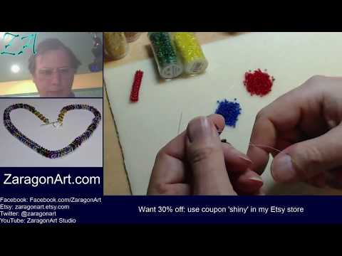 Practicing the newly learned bead work technique - Originally twitch broadcast 2 March 2016