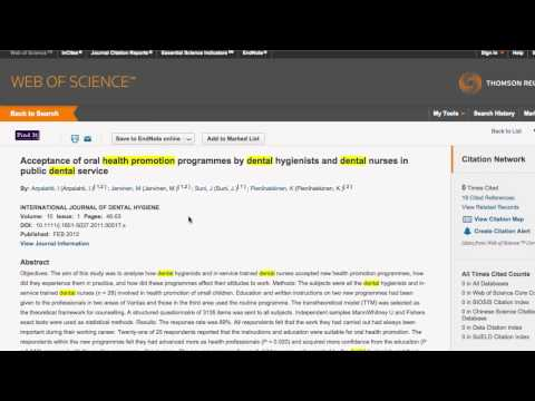 How to find the Journal Impact Factor for a paper in WoS
