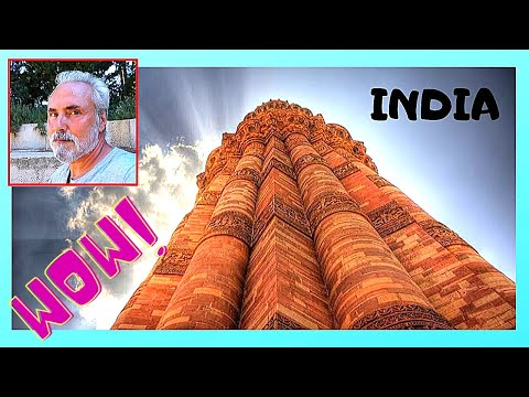DELHI, the QUTUB historic site, the most visited ancient monument complex in INDIA