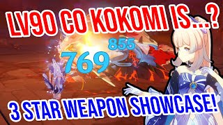 C0 Kokomi is...? 3★ Weapon Showcase! Healing, Damage, and MORE! Genshin Impact