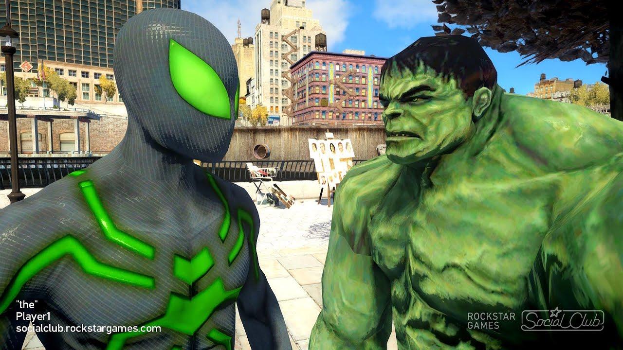 Spiderman vs Hulk Bigtime Spider man - YouTube