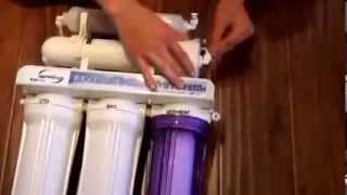 Как установить фильтр для воды обратный осмос(Типовая, подробная видео инструкция по установки шести ступенчатой системы обратного осмос с минерализато..., 2014-01-30T19:12:14.000Z)