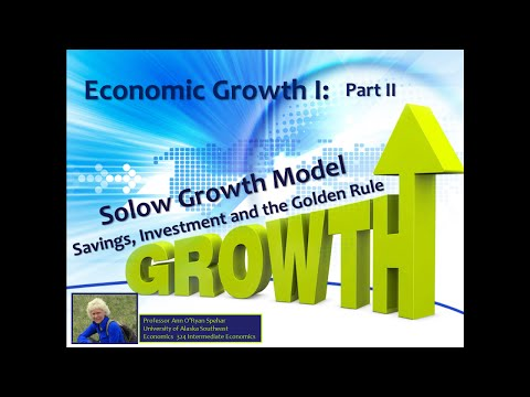 The Solow Growth Model Part II: Savings and the Golden Rule