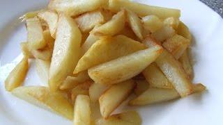 Жареная картошка вкусная и хрустящая