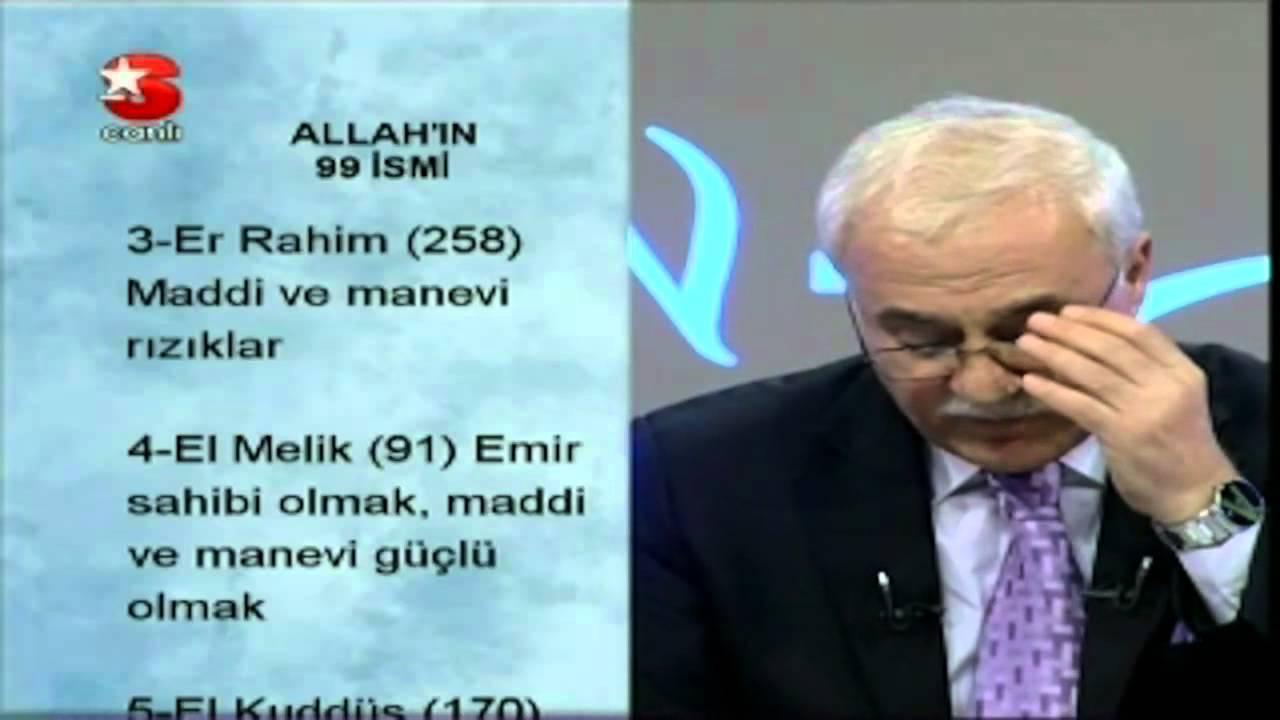 NİHAT HATİPOĞLU Sohbet - ALLAH'IN 99 İSMİ - YouTube
