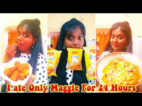 I Ate MAGGIE for 24 Hours Food Challenge | Instant Noodles C