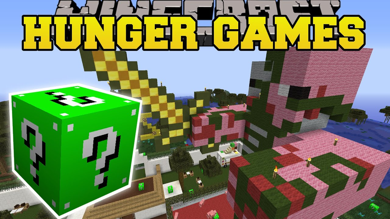 Minecraft zoo hunger games lucky block mod modded for Mine craft hunger games