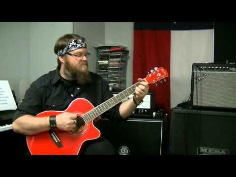 Washburn EA12R Acoustic Guitar, unboxing and Review