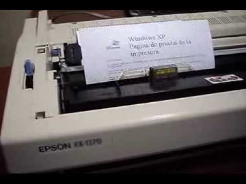 página de prueba epson fx-1170 - youtube