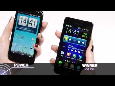 HTC Sensation XE vs Galaxy S2 Test Video