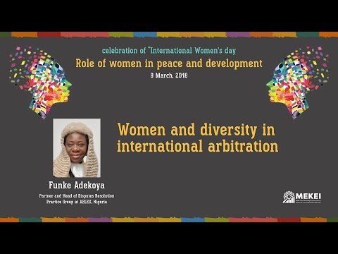 Women and diversity in international arbitration
