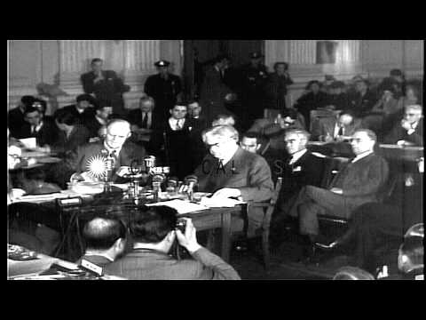 President of UMWA, John L. Lewis speaks about sufferings of mine workers at the C...HD Stock Footage