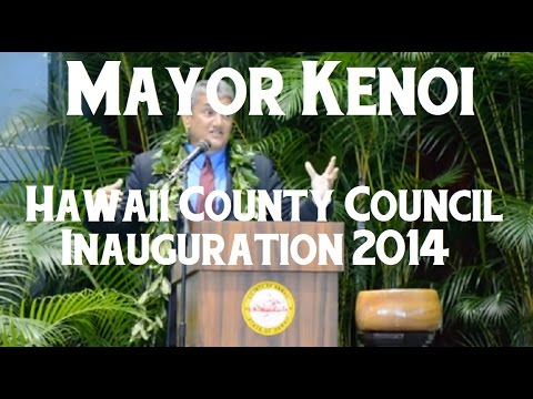 Mayor Kenoi at the 2014 County Council inauguration Dec 1 2014