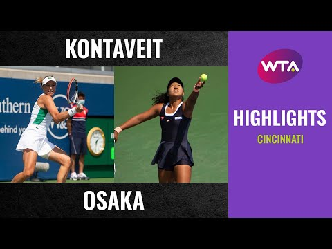 Naomi Osaka vs Anett Kontaveit | 2020 Cincinnati Quarterfinal | WTA Highlights