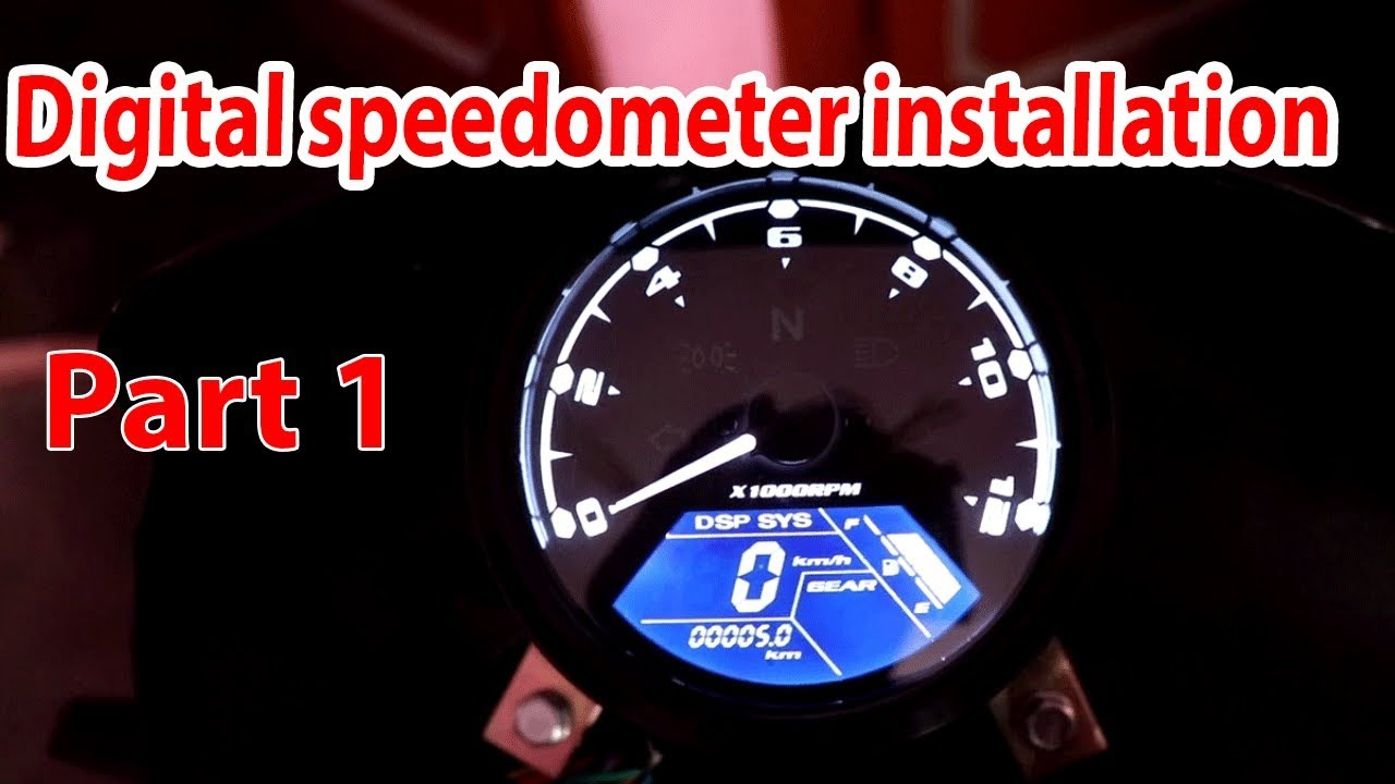 led digital speedometer installation part 1