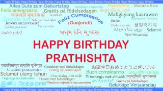 Prathishta   Languages Idiomas - Happy Birthday