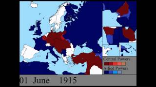 Первая Мировая война на карте по дням