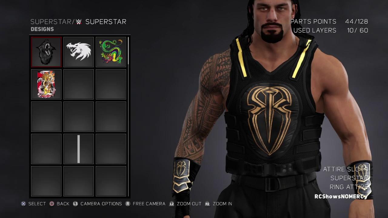 WWE 2K17 Roman Reigns 2017 Updated Wrist Bands logo WM 32 ...