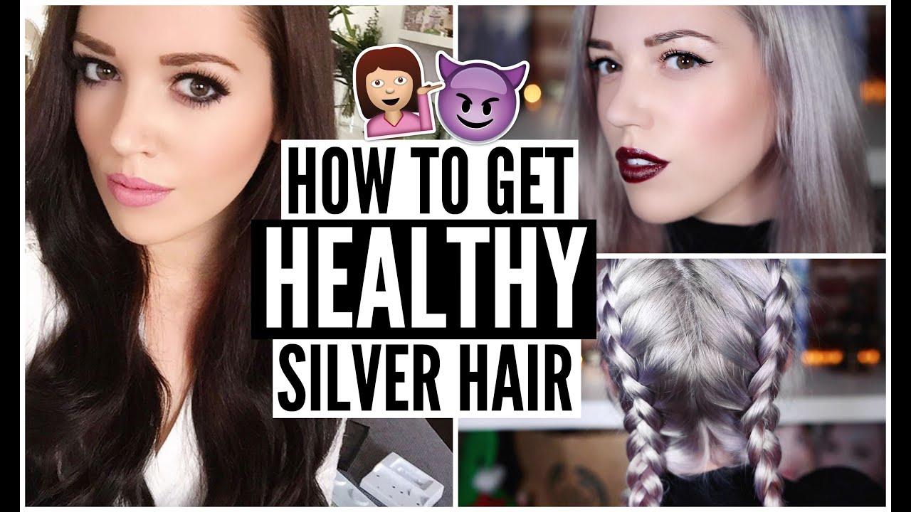 Dark Brown To Silver Grey Healthy Hair Using Olaplex Youtube